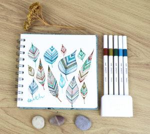 Patterned leaves with EMOTT pens