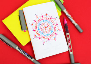 Mindful mandalas with uni EYE pens