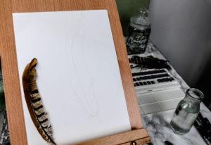 uni-PIN feather art