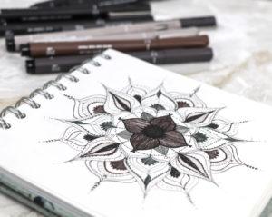 Mandala with PIN pens