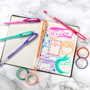 Make a back to school journal with SIGNO