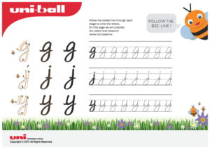 free handwriting worksheet - letter formation