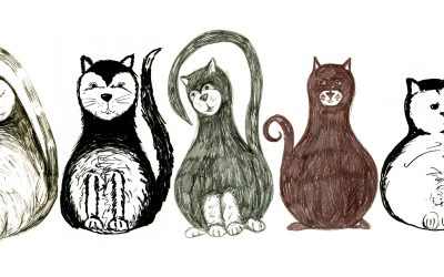 Draw a quirky cat with uni-PIN pens