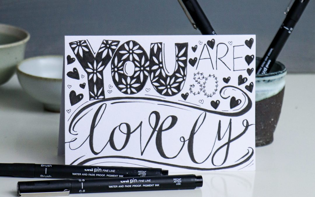 Four fab card design ideas with uni-ball pens