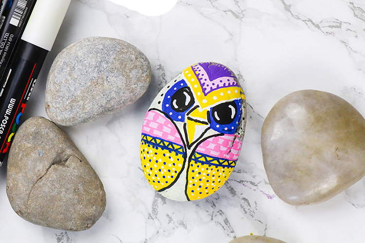 Rock painting with POSCA, creative crafting ideas