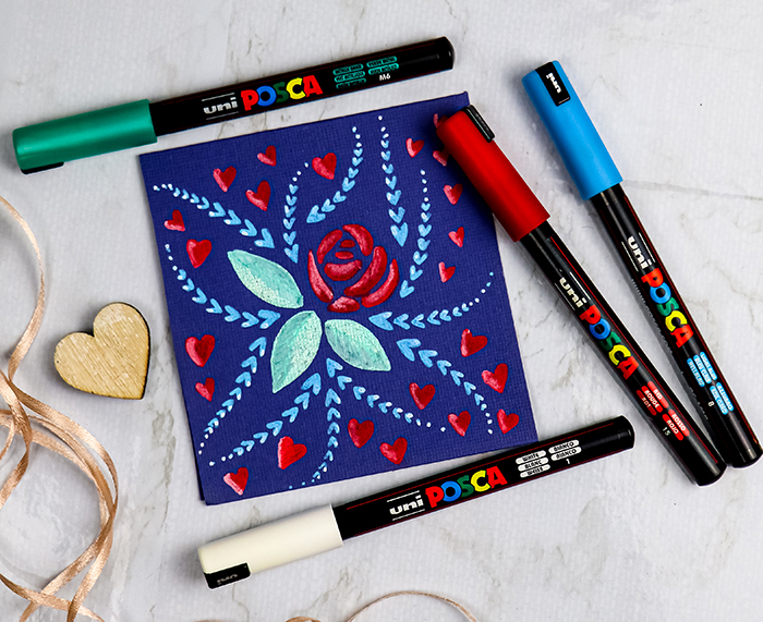 Draw florals with POSCA