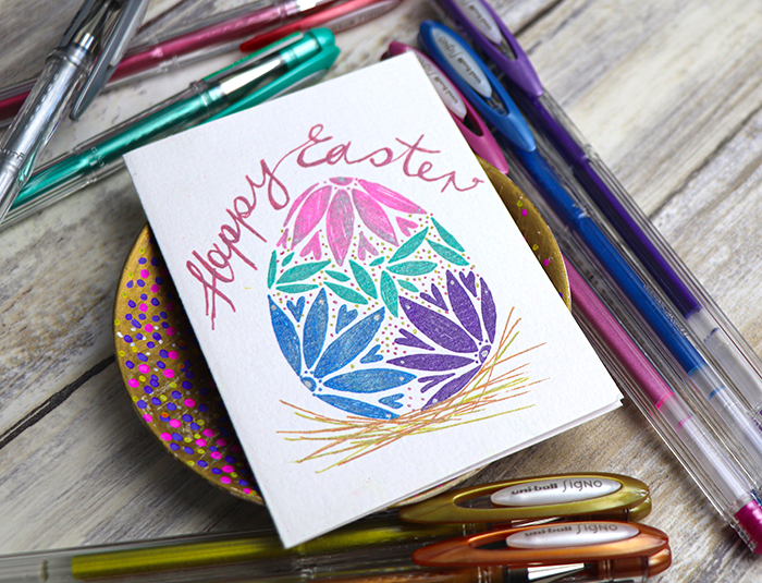 Make an Easter card with SIGNO gel pens