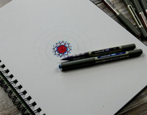 Make a colourful mandala