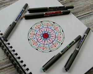 Make a colourful mandala