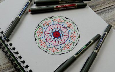 How to make a colourful mandala with Eye Fine pens
