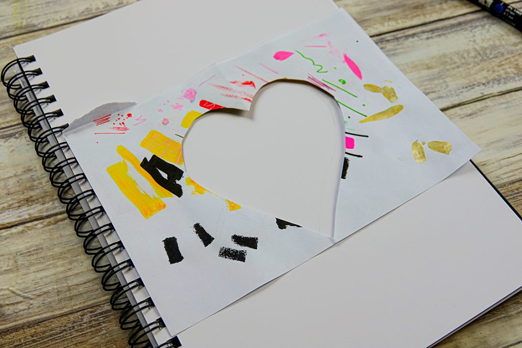 Make an illustrated patterned heart motif