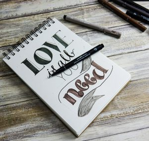 Hand-lettering guide