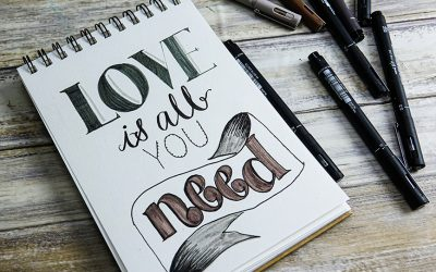 Practice hand lettering with uni-Pin pens