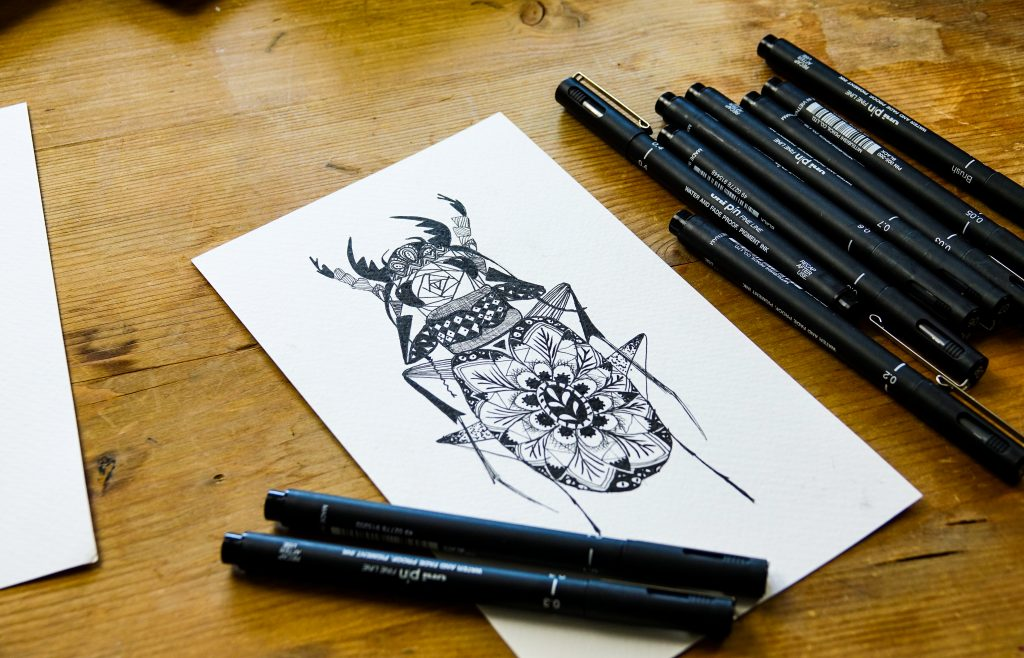 Try zentangle-inspired art with PIN pens