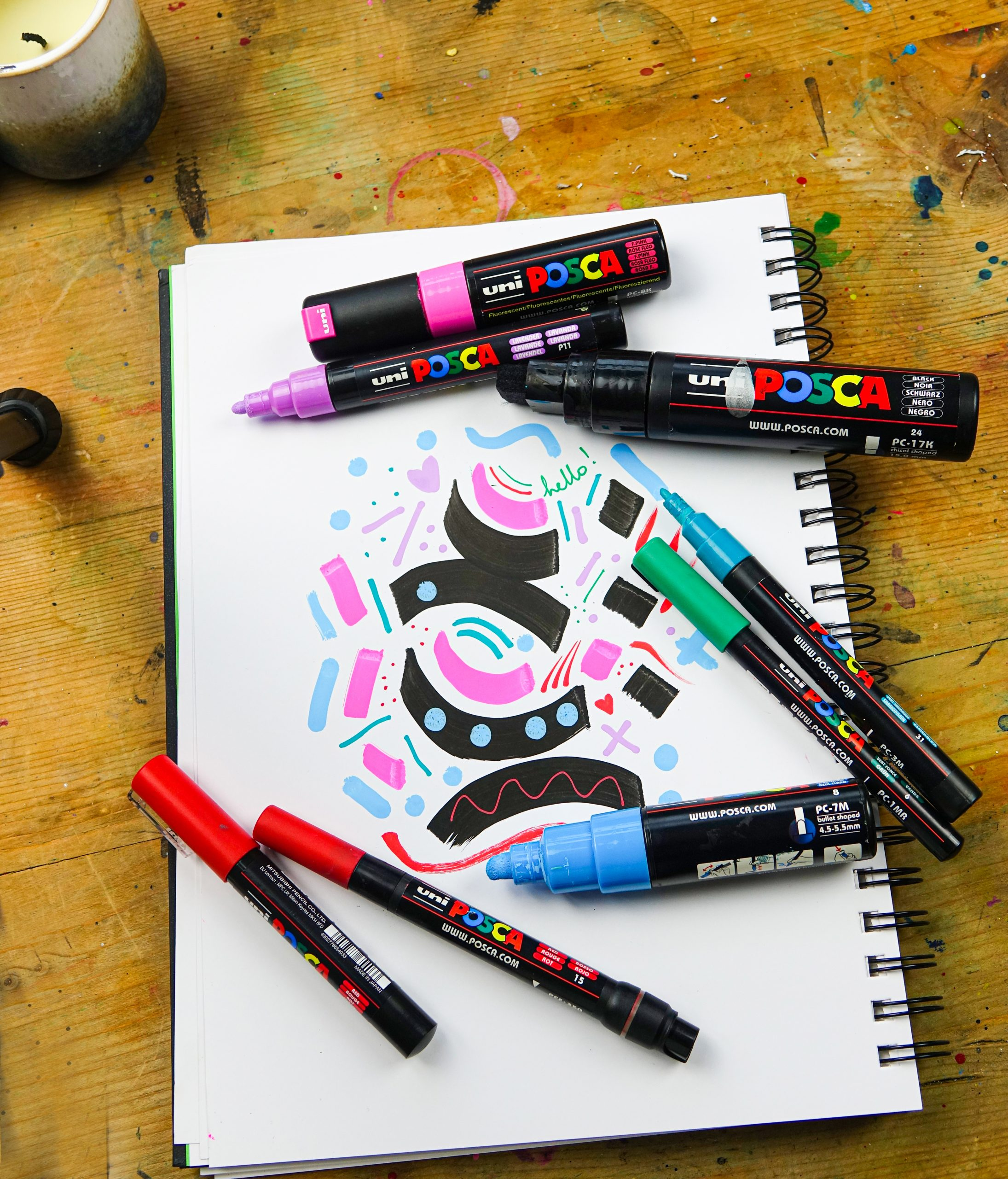 ALL POSCA NIB SIZES