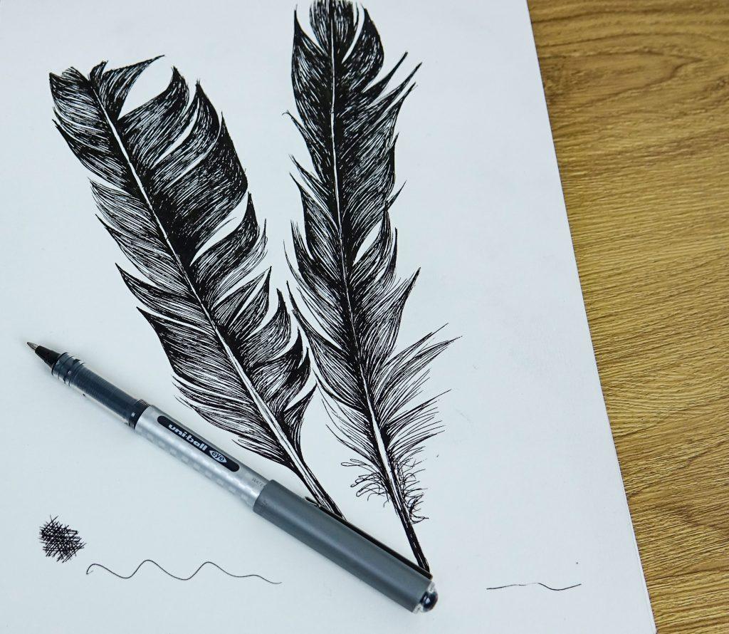 Draw with uni-eye pens