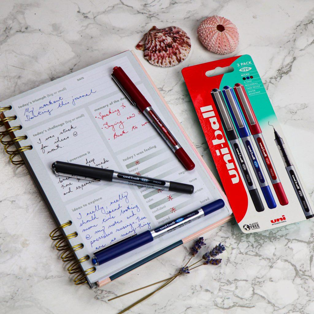 Journal with uni-Eye pens