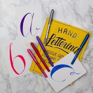 practice handlettering with EYE