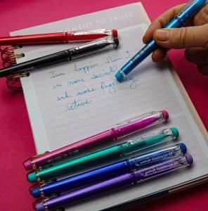 uni-ball Erasable gel pen, a family essential