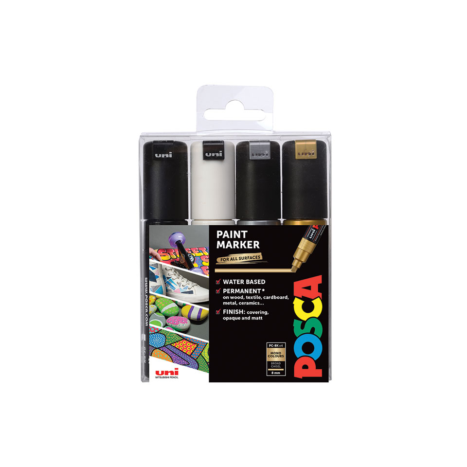 Light Green Uni Posca PC8K.5 Water-Based Paint Marker Broad Chisel Tip
