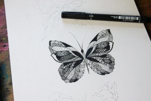 intricate designs and drawings with PIN pens