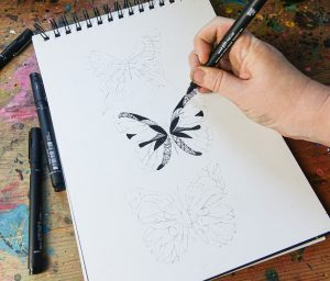 Detailed drawings with PIN pens