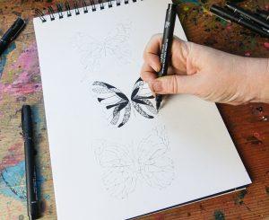 Fine line illustration with uni-PIN pen