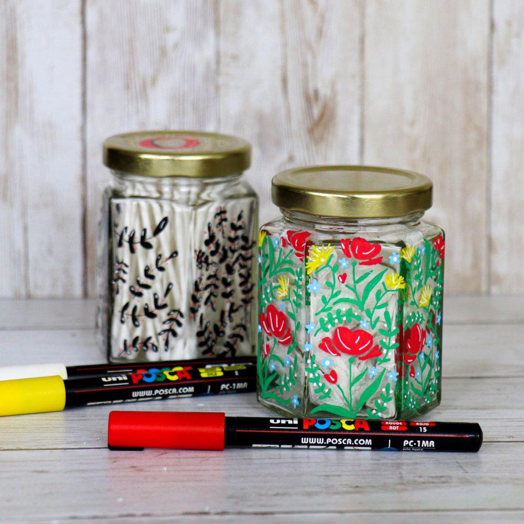 Storage jars with POSCA