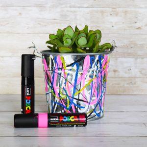 Funky plant pots with POSCA