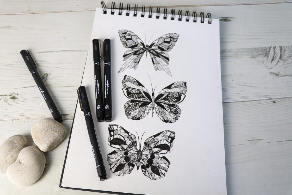 Intricate butterfly designs with PIN pens