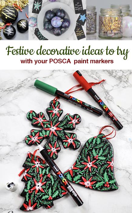 festive decorations with posca pens