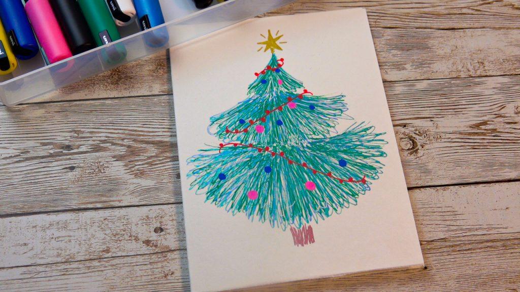 Make a Xmas tree card with POSCA