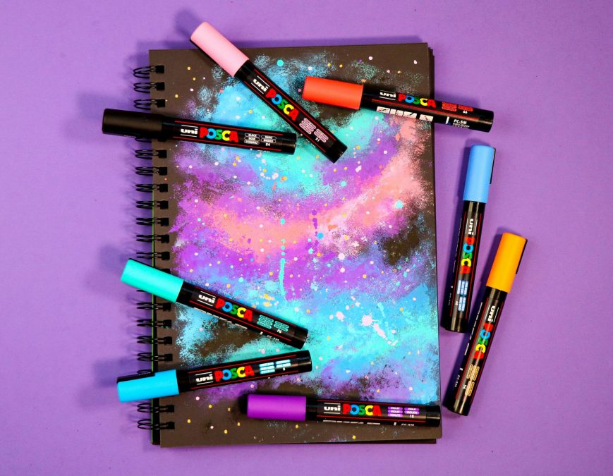 Christmas gift ideas 5: Celestial POSCA and sketchbook set