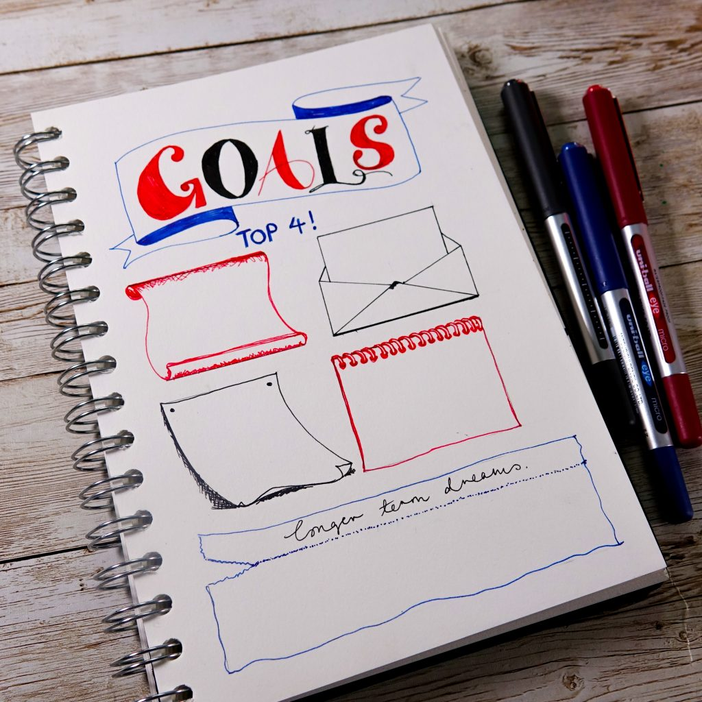 Design an easy journal page with uni-Eye Micro pens