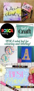 POSCA voted best for colouring and lettering