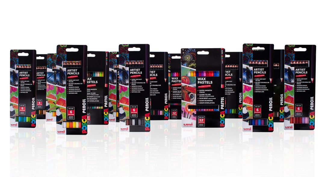 New POSCA Pencil and Pastel packs give artists a wealth of creative options