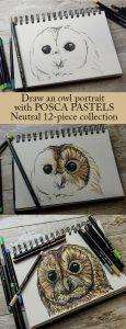 Create amazing tonal drawings with POSCA pastels