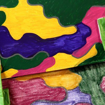 Customise a satchel with POSCA Deep colours