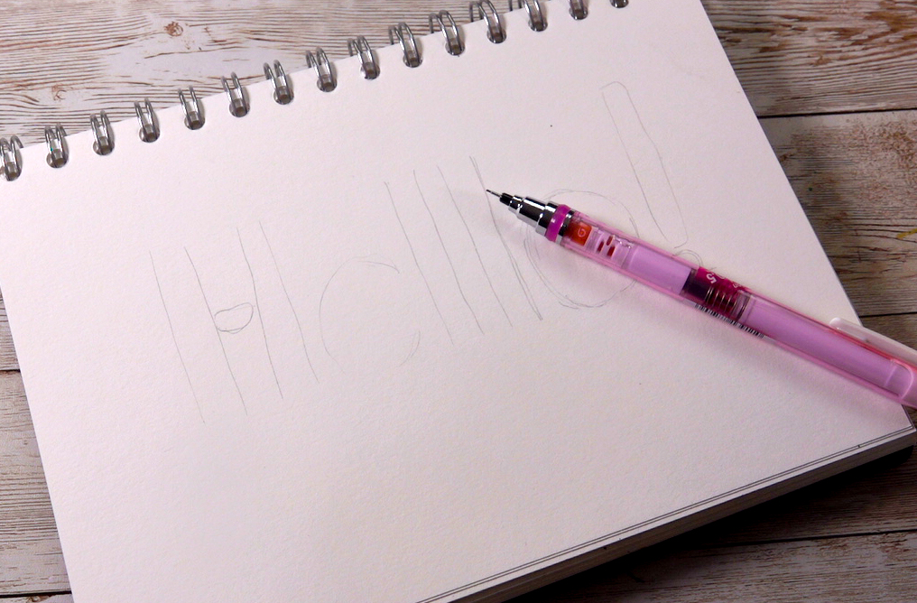 Easy hand lettering with uni-air pens