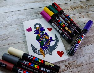 make a valentines greeting with POSCA Deep colours