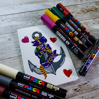 Make a Valentine's Greeting with POSCA Deep colours