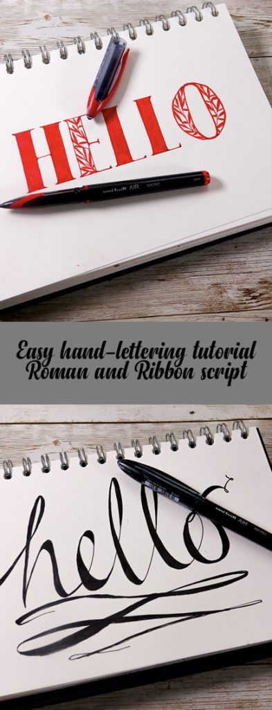 Lettering with uni-Air pens