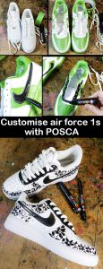 Customise your Nike AirForce trainers with POSCA