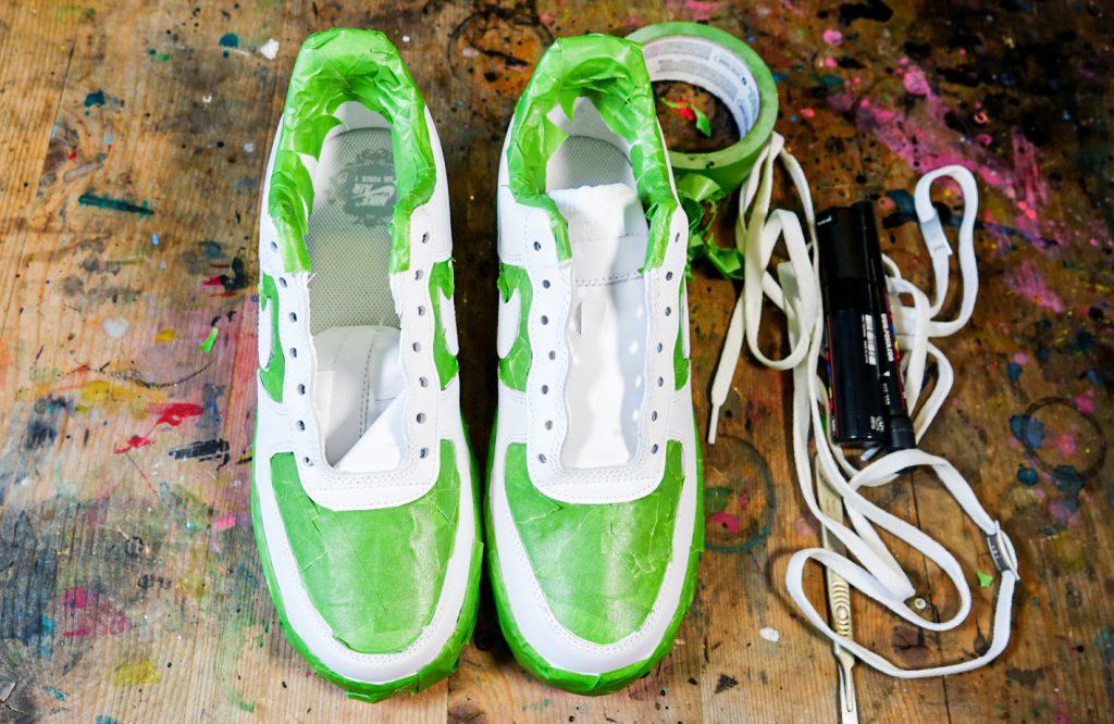 Custom Nike AF1 with POSCA pens