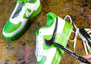 Customise your Nike Air Force trainers with POSCA