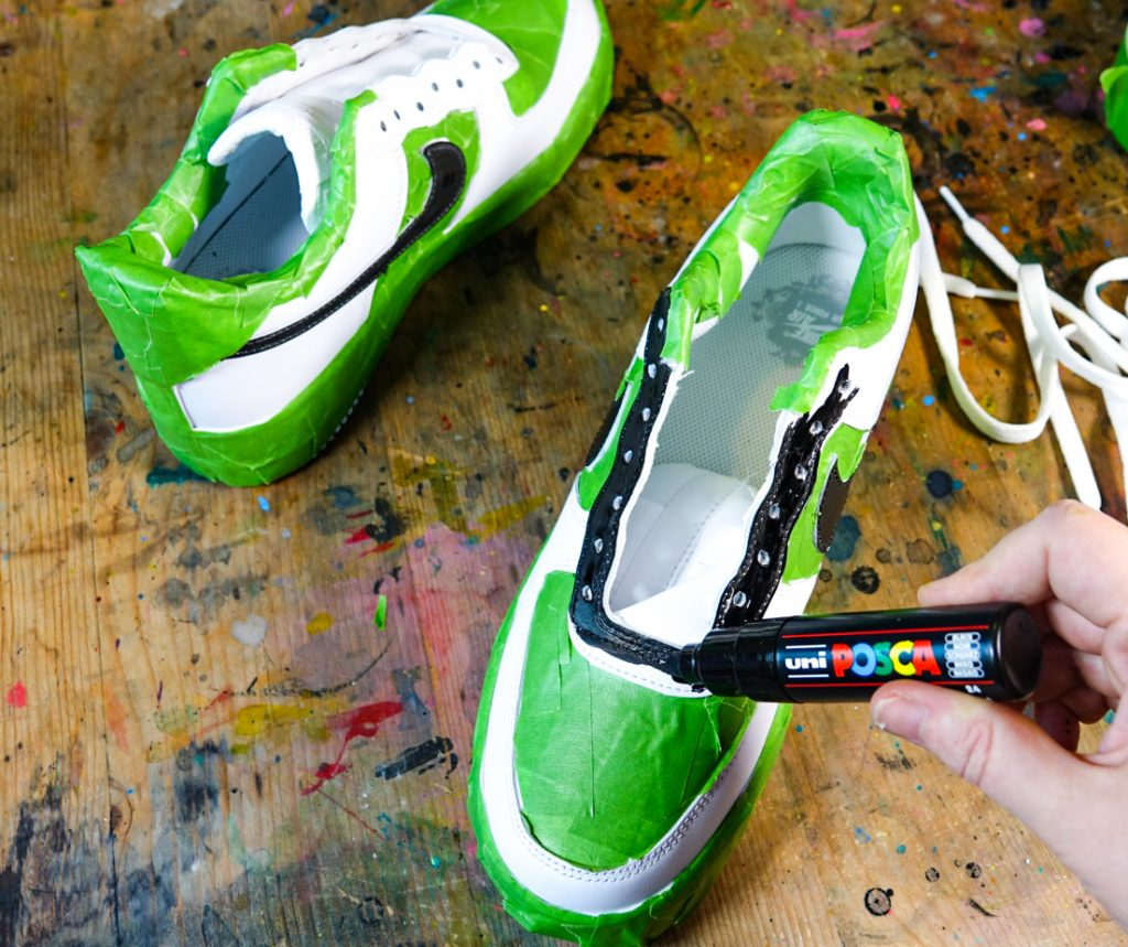 Custom Nike Air Force 1 with POSCA