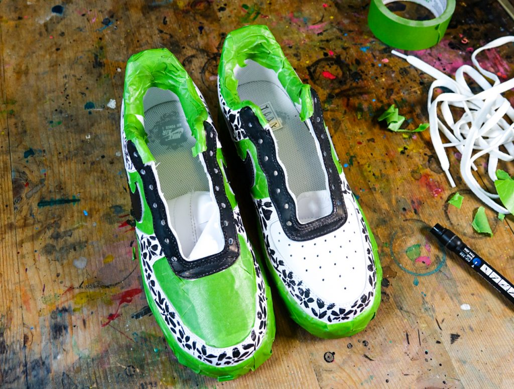 Customise Nike AF1 with POSCA