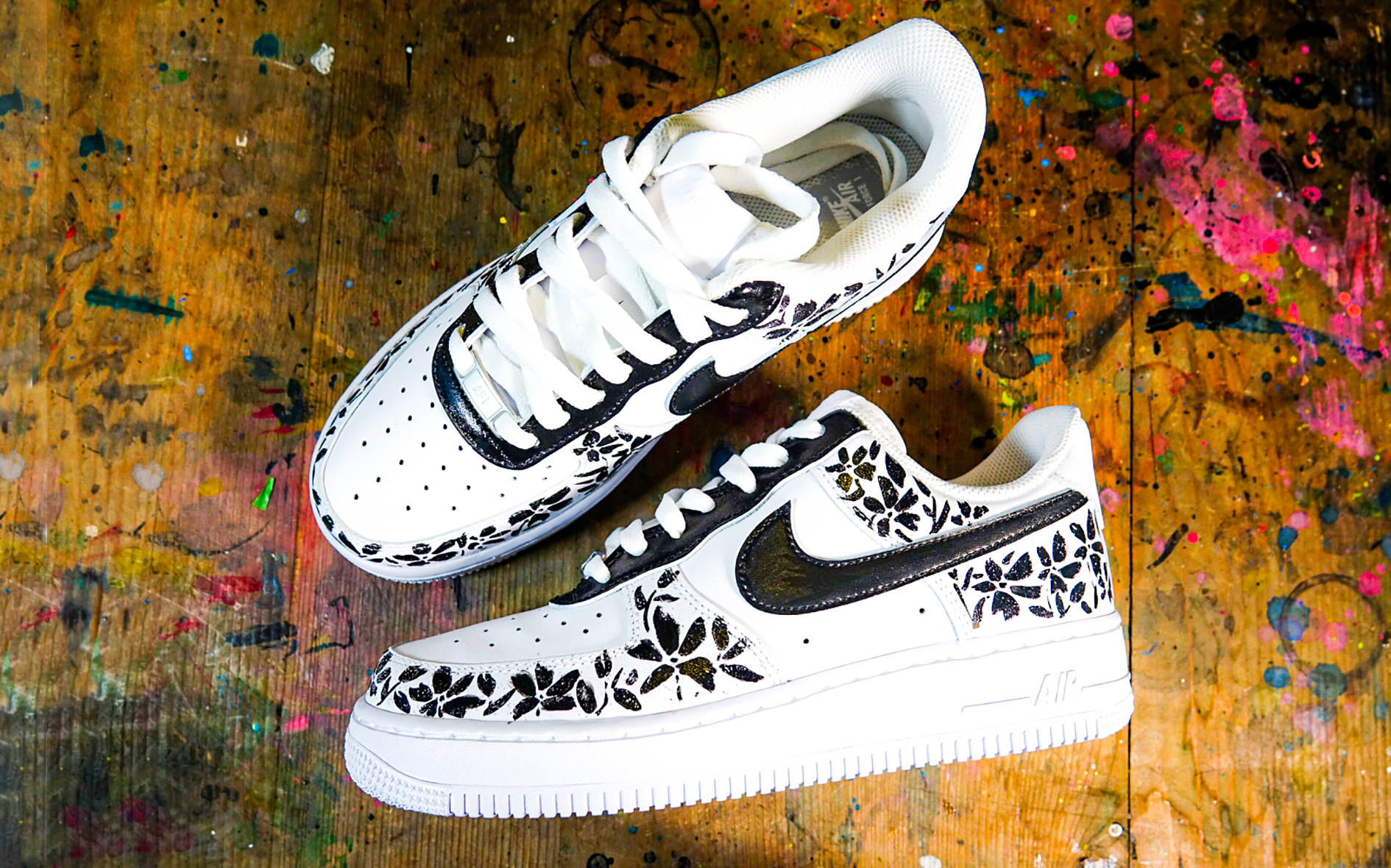 Custom sneakers with POSCA