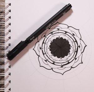 Mandala designs with PIN pens