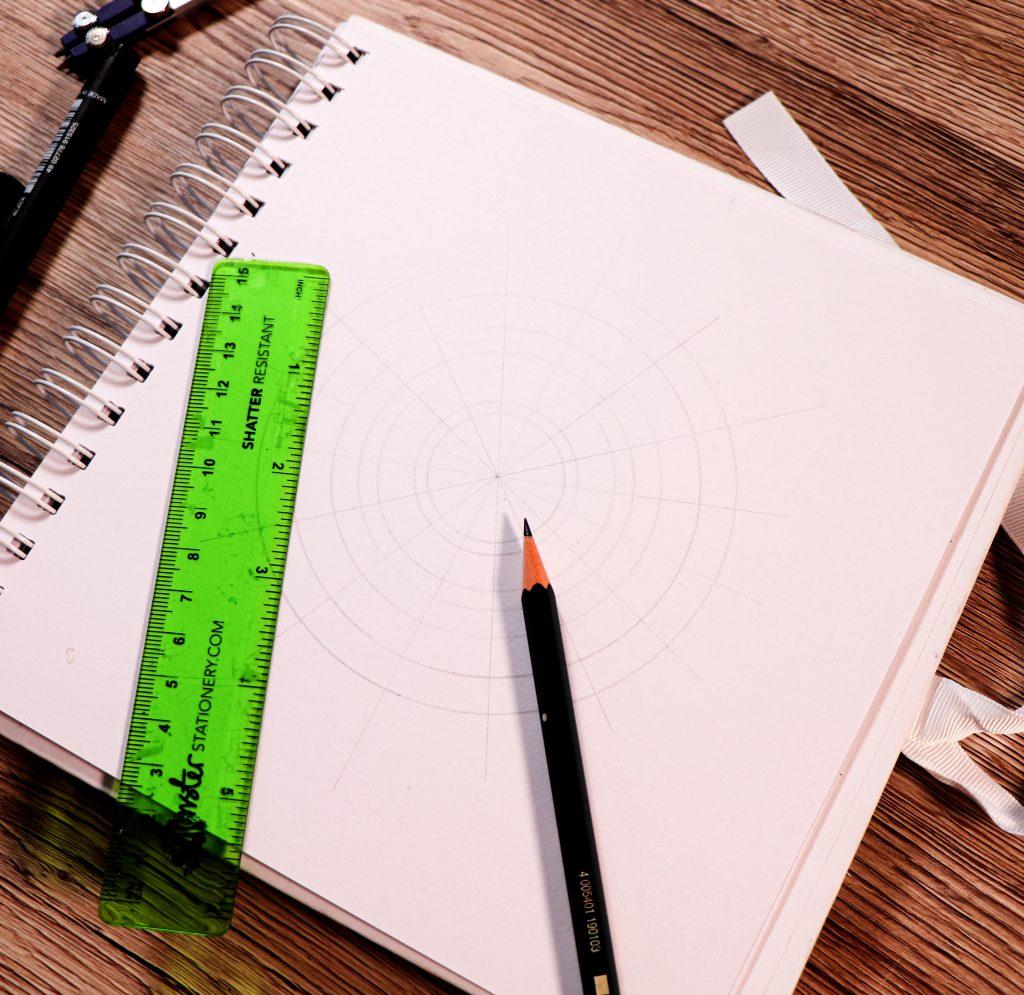 make a mandala with PIN pens